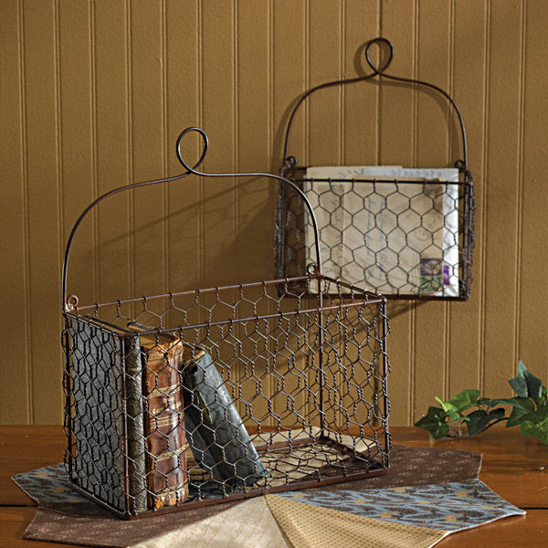 Chicken wire wall baskets - Decorative basket wall art ...