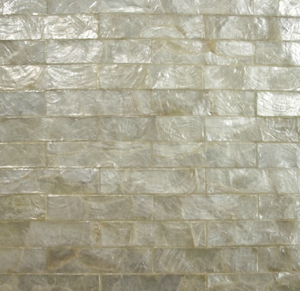 White Capiz Shell Wall Covering