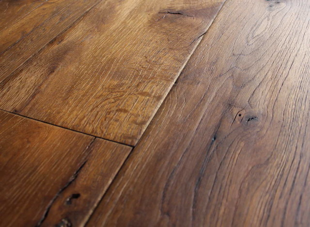 Reclaimed french oak wide planks mediterranean for Hardwood decking planks