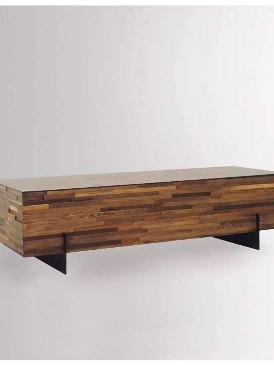 Mixed Wood Coffee Table -