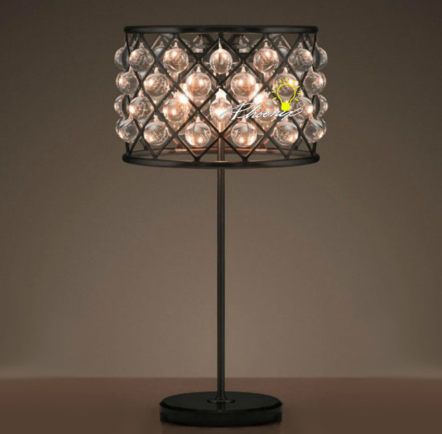 antique crystal and iron art table lamp contemporary. Black Bedroom Furniture Sets. Home Design Ideas