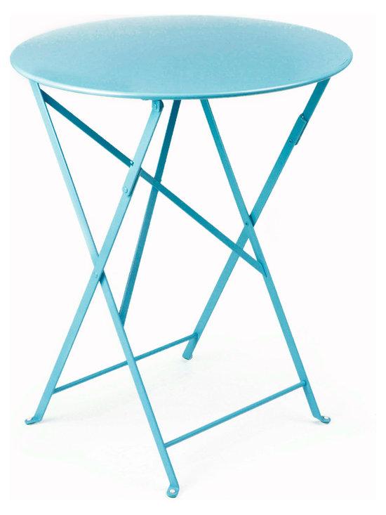 "Fermob Bistro 24"" Table - 0245 Fermob Turquoise 24"" Bistro Table"