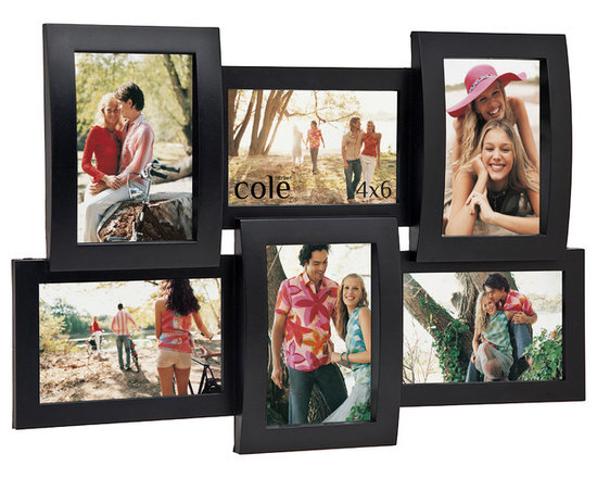 Philip Whitney - Six Openings 4X6 Injection Molded Collage Frame - Six openings for 4x6 pictures. Injection molded collage picture frames.