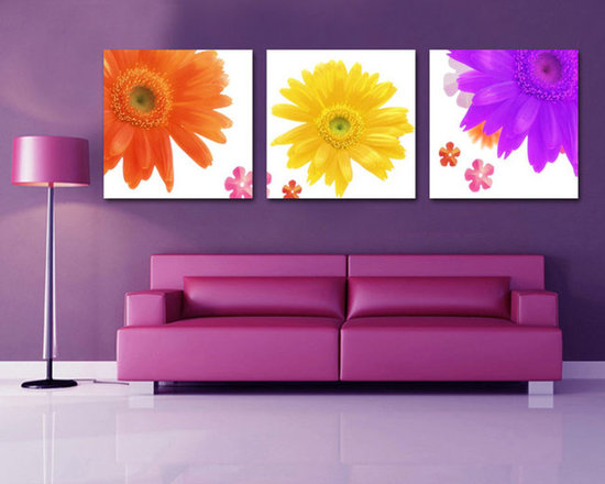 SunFlower Canvas Prints - Beautiful sunflower painting canvas prints to give fresh look to living room.