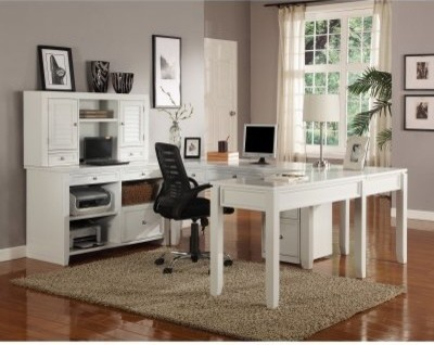 Shaped Desk With Hutch Desks on Houzz