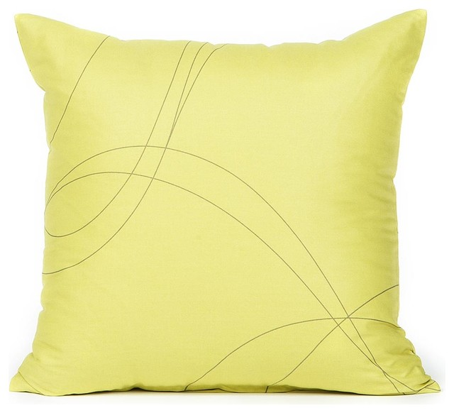 Mustard Throw Pillow Covers : Mustard & Taupe Swirl Pattern Pillow Cover - Contemporary - Decorative Pillows - by Silver Fern ...