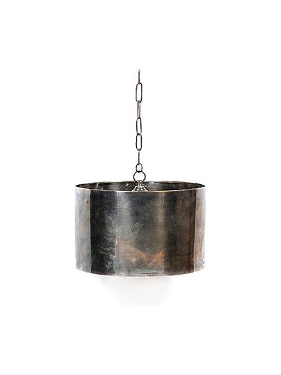Industrial Steel Drum Pendant -