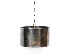 Industrial Steel Drum Pendant eclectic pendant lighting