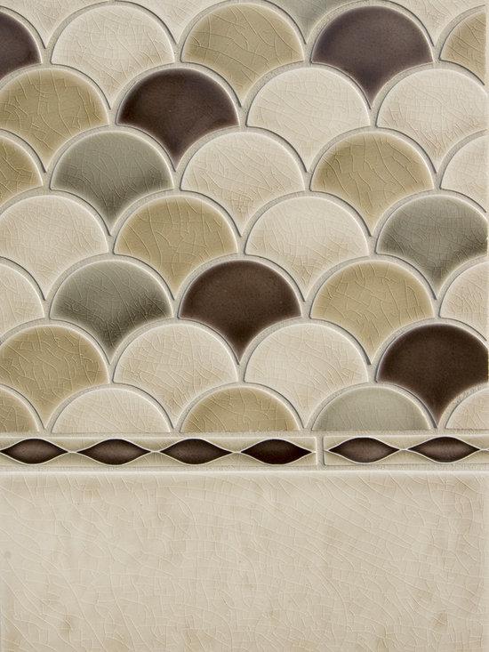 New Releases by Pratt and Larson - Pratt & Larson's new fan shape used in a traditional pattern.