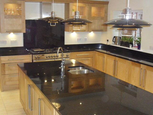Star Galaxy Granite Island Traditional Kitchen Countertops Other Metro By Cheshire