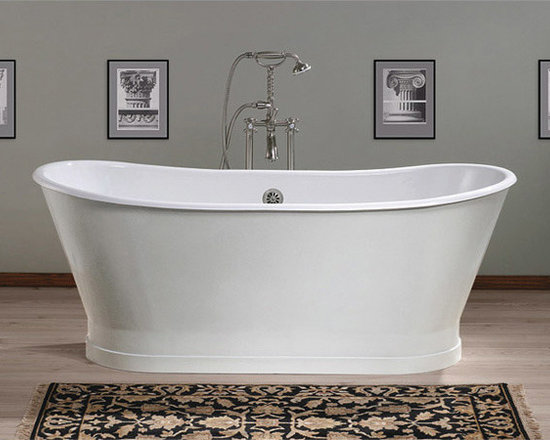 Balmoral by Cheviot Cast Iron Tub - 68-inch Double Ended Pedestal Cast Iron Tub with No Faucet Drillings