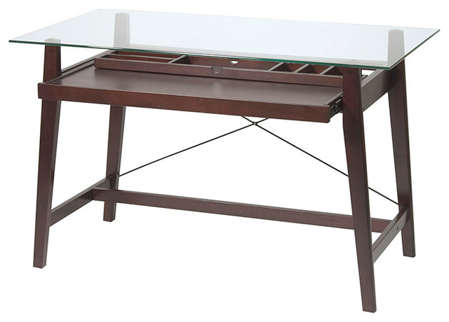 OSP Designs Tribeca Computer Desk By Office Star contemporary-desks-and-hutches