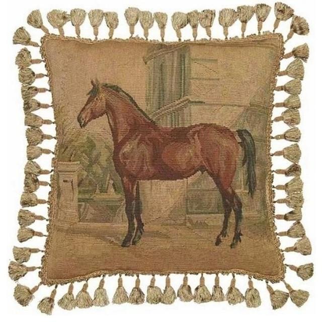 Decorative Horse Pillows : New Aubusson 20