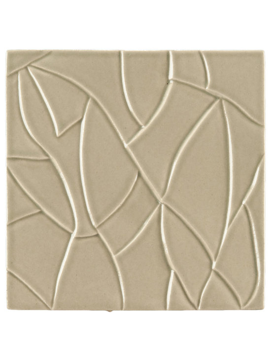 "Ceramic - ANN SACKS Chinois by Robert Kuo 9"" x 9"" ice crackle ceramic field in mist green"