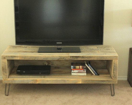 Small Console, Reclaimed Wood Media Entertainment Stand - Media Console / TV Stand (Baker Collection)