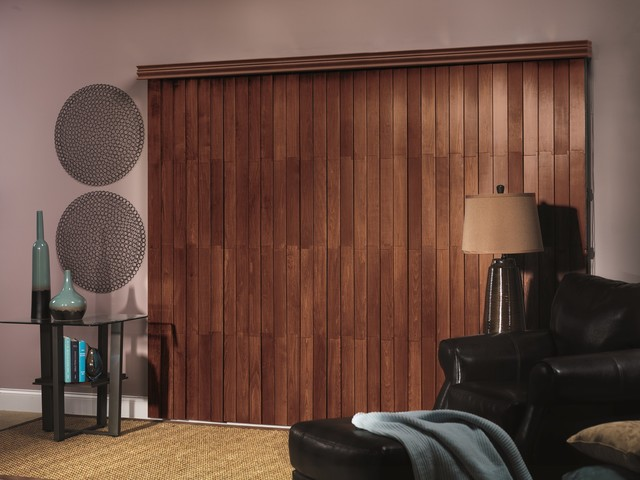 Bali northern heights real wood vertical contemporary for Living room vertical blinds