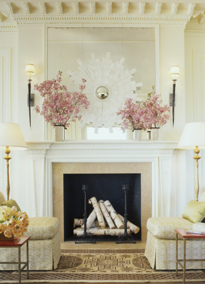contemporary living room How to Decorate a Mantel