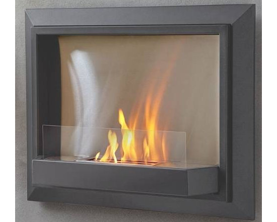 """Real Flame Grey Envision Wall Ventless Fireplace - Dimension: 30.1"""" L x 24.3"""" H x 7.3"""" W"""