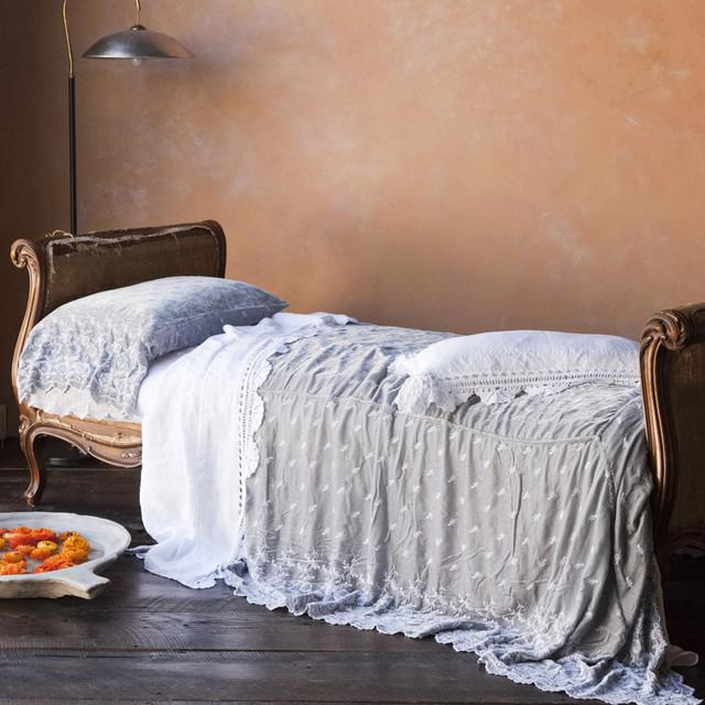 Silk Velvet Quilted Coverlet modern-quilts