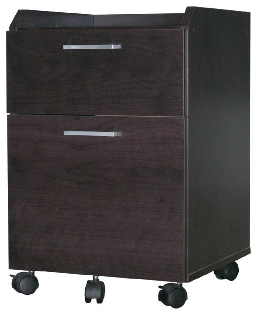 4D Concepts Rolling File Cabinet in Espresso - Modern - Filing Cabinets - by Beyond Stores