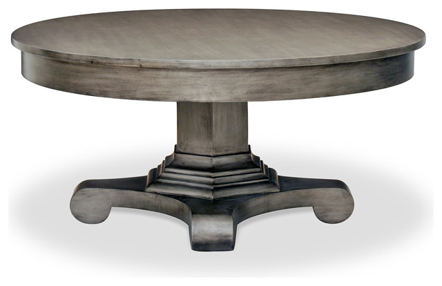 drake round coffee table traditional coffee tables new york by