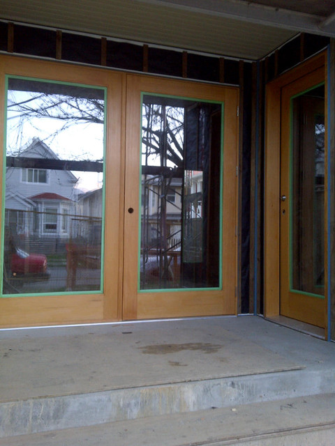 Solid VG Fir French Full One Lites modern-windows-and-doors
