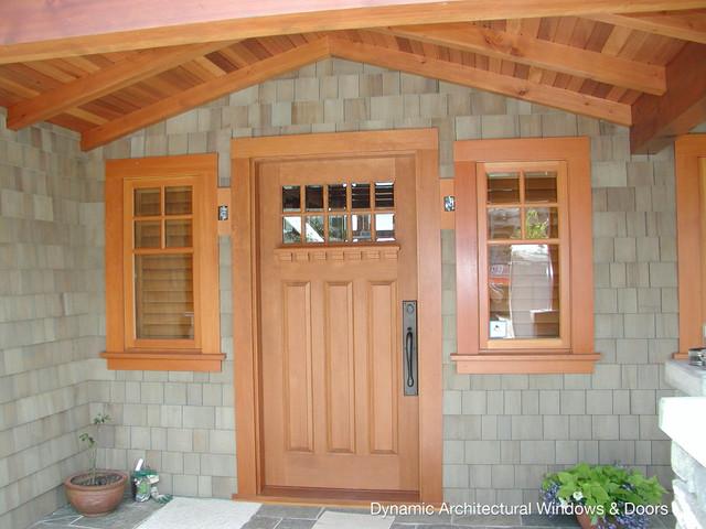 Craftsman Entry Door With Dentil Shelf Craftsman Entry