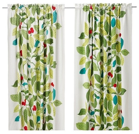 IKEA Stockholm Blad Pair of Curtains contemporary curtains
