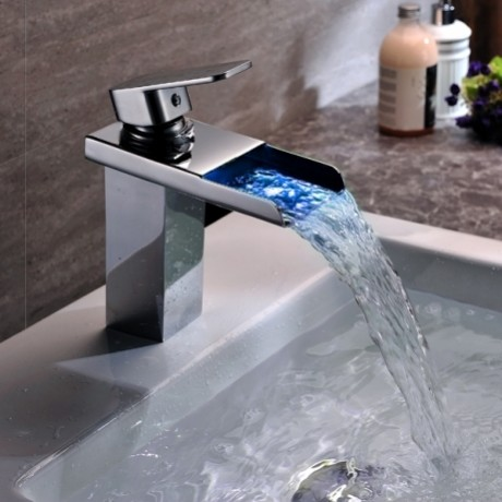 ... LED Bathroom Sink Faucet Chrome Finished modern-bathroom-sink-faucets