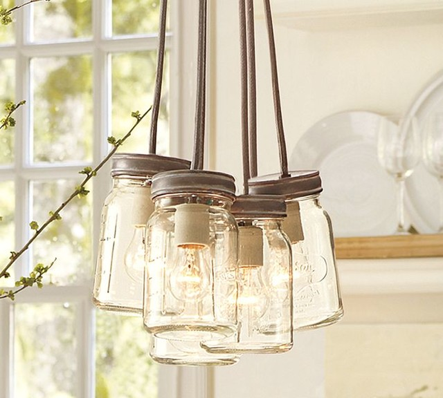 Exeter 5-Jar Pendant eclectic-pendant-lighting