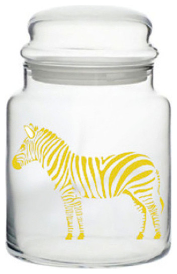 Metallic Gold Zebra Jar contemporary food containers and storage