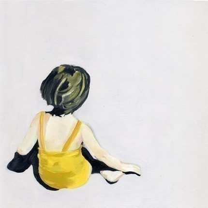 Girl in the Yellow Suit Print by Kiki & Polly contemporary artwork