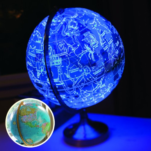 Illuminated Rotating Universe Globe modern kids toys