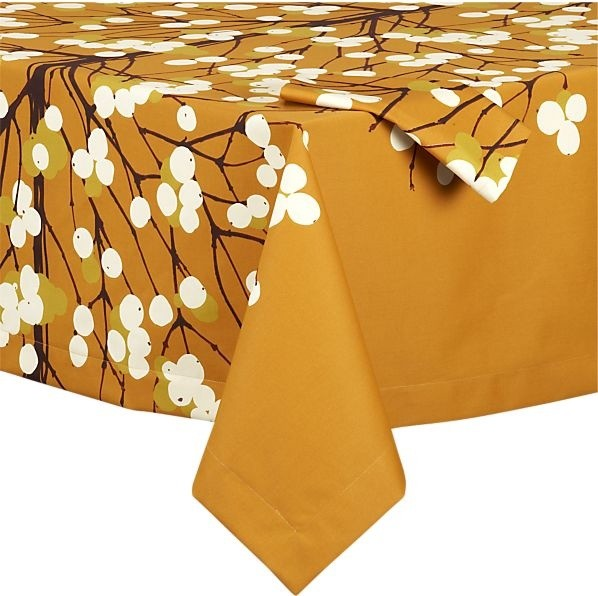 Marimekko Lumimarja Orange Tablecloth Modern  : modern table linens from www.houzz.com size 598 x 596 jpeg 81kB