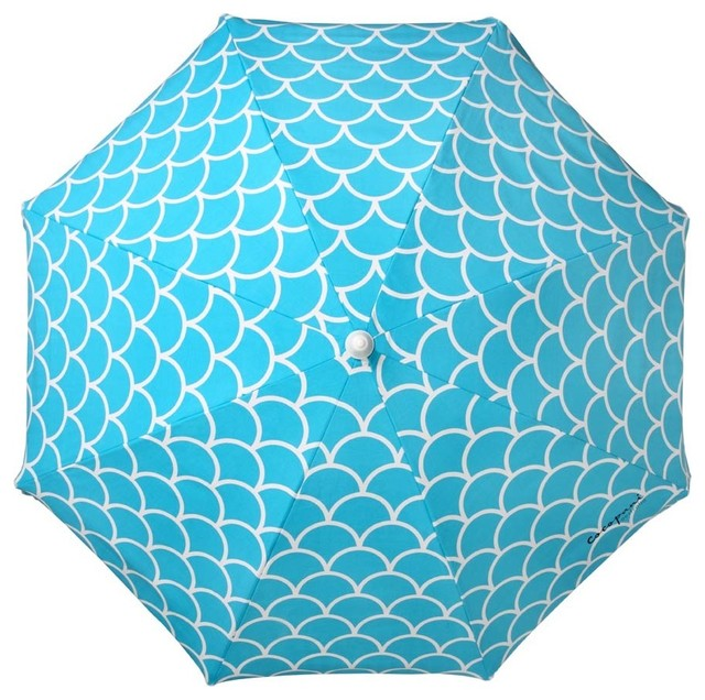 Aqua fish scales outdoor-umbrellas