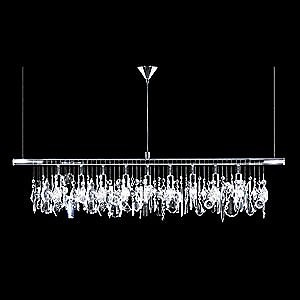 Broadway Linear Crystal Chandelier by James R. Moder | Lumens contemporary-chandeliers