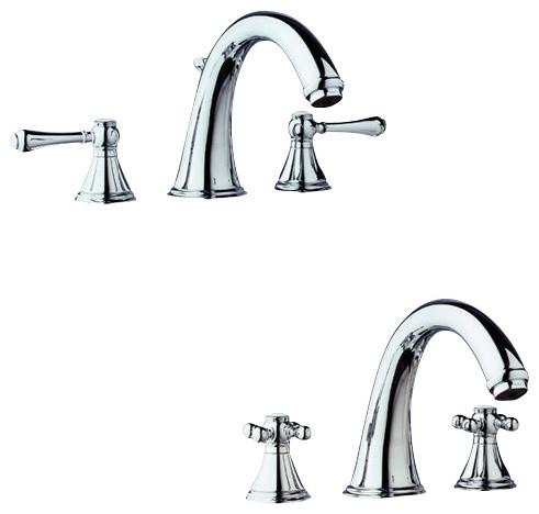 3 Hole Tub Faucet : Grohe Geneva 3 Hole Roman Tub - Contemporary - Bathroom Faucets - by ...