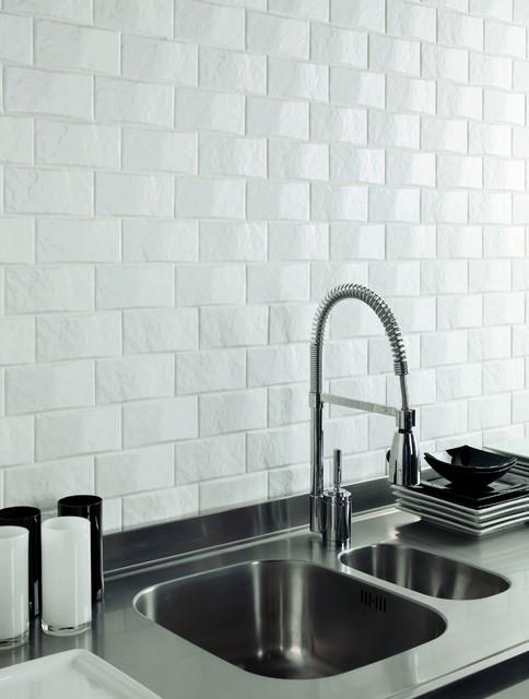 dune 3x6 textured white ceramic tile on mesh modern bathroom tile