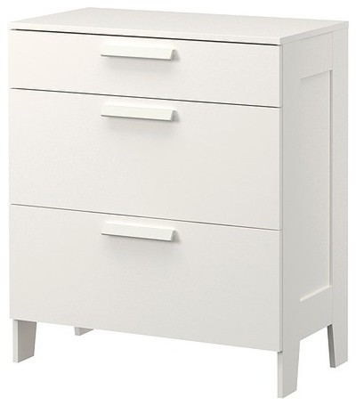 BRIMNES 3 drawer chest modern-dressers-chests-and-bedroom-armoires