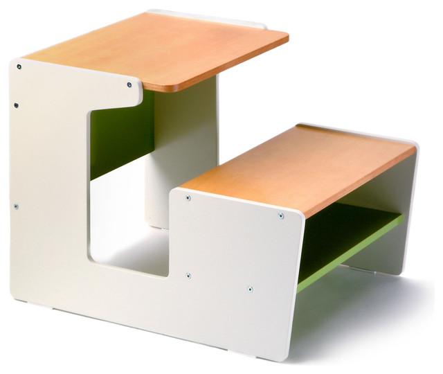 Sled desk green modern kids desks and desk sets by design public - Desks for small spaces for kids gallery ...