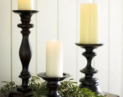 Turned Wood Pillar Holders traditional candles and candle holders