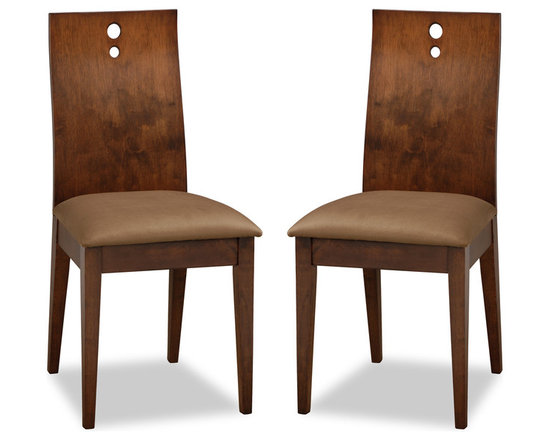 Bella Brown Fabric Upholstered Cocoa Dining Chair -