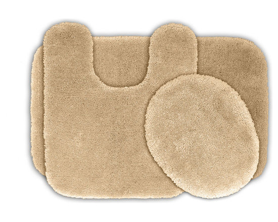 Sands Rug - Posh Plush Ecru Washable Bath Rug (Set of 3) - Revel in spa-like luxury every time you step into your bath with the Posh Plush collection of bath rugs. The amazingly soft, yet durable, nylon plush is machine washable, and each floor piece has a non-skid latex backing for safety.