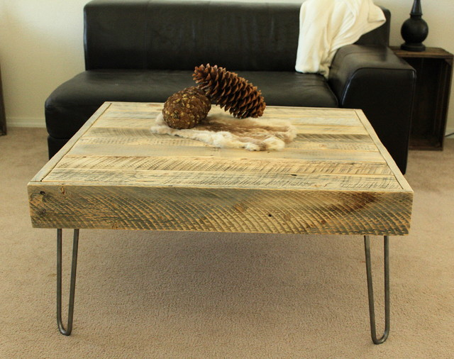 Reclaimed wood square coffee table modern coffee tables denver