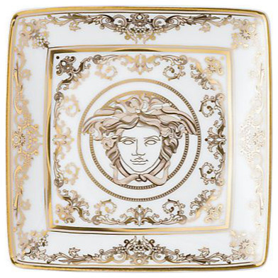 Versace medusa gala square canap plate eclectic - Canape versace ...