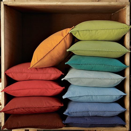 Decorative Pillows At West Elm : New Washed Linen/Cotton Pillow Covers - Modern - Decorative Pillows - by West Elm