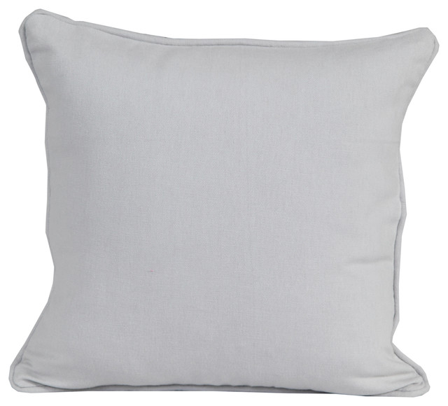 Throw Pillows Pictures : Plain Grey - Filled Cushion - Modern - Decorative Pillows - other metro - by Homescapes Europa Ltd
