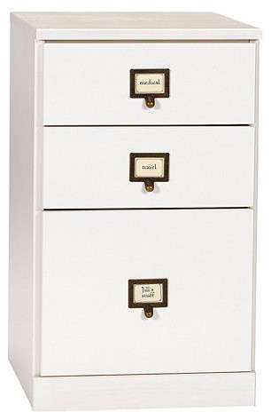 Original Home Office 3-Drawer File Cabinet - Contemporary - Filing Cabinets - by Ballard Designs