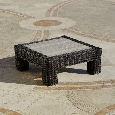 RST Resort Collection Coffee Table - Espresso Rattan modern-coffee-tables