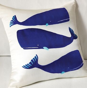 Cotton cushion -Whales contemporary pillows